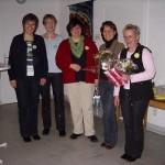 Annette Gano und Daniela Hölscher werden 2006 beim Forumstag in Letmathe als Vorsitzende verabschiedet
